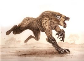 WereHyena by odingraphics