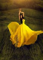 Lass in yellow by vanityAtTached31