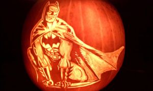 Batman Pumpkin 2012 by DistantVisions
