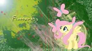 Fluttershy Sunshine Art Wallpaper by LuGiAdriel14