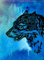Wolf ACEO by anrasmus