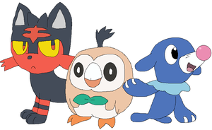 The New Gen 7 Starters! by JustinandDennnis