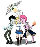 Adventure Time Fairy Tail crossover by avaelle95