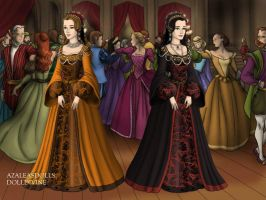 Two Sisters- Anne and Mary Boleyn by EriksAngelOfMusic22