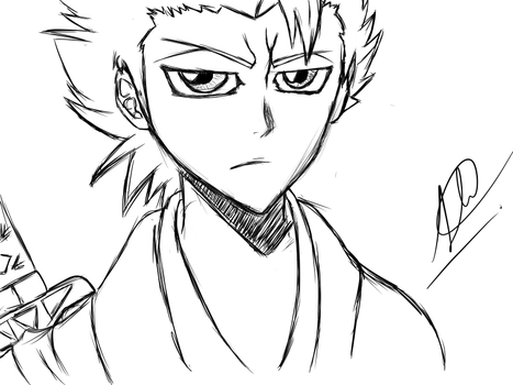 Toshiro Hitsugaya Drawing By ASharkLife by ASharkLife