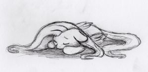 Quick Fluttershy sketch 9 by otto720