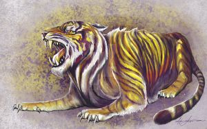 The Golden Tiger by hannalemoine