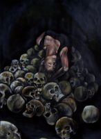 Self Portrait with Skulls by nrobinson00