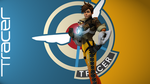 Overwatch UHD Tracer wallpaper 3 by USSRIV