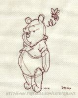 Sketchy Pooh Cross-stitch by catgir