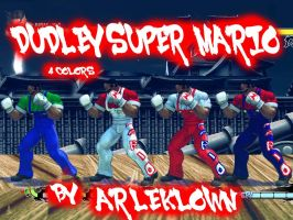 SSF4:AE MOD DUDLEY SUPER MARIO by arleklown
