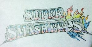 Super Smash Bros. 3DS and Wii U. (Logo) by Konggers
