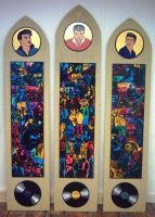 Rockers Icon triptych by gibsart
