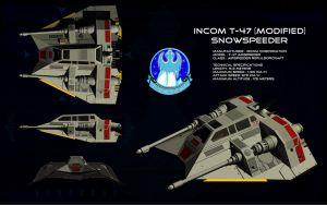 T-47 Snowspeeder ortho by unusualsuspex