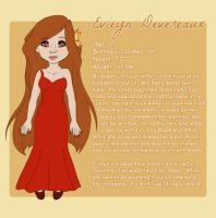Character Sheet:  Evieyn Devereaux by jesasaurus