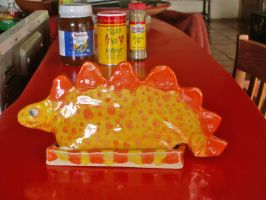 Stegosaurus Butter Dish by CorazondeDios