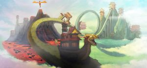 A Ride in a Chinese Floating City by VeeYeo