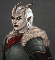 DA: Qunari woman by Vaahlkult