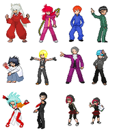 Trainer Sprite Edits Part 1 by SakuraMota