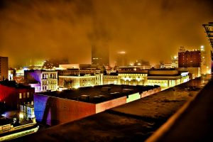 Rooftop Downtown San Diego by Mark-Xipil