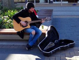 Busker #2 by Aroha-Photography