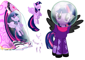 Space Twilight not-a-vector by FaisLittleWhiteRaven