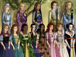 Lord of the Rings Scene Maker- Disney Princesses by Failinginart
