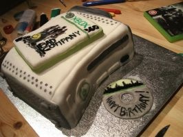 Xbox 360 cake with Battlefield by gertygetsgangster