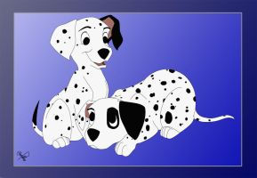 Dalmatian Puppies by Spiritwollf
