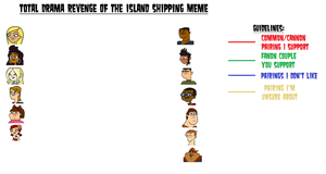 Total Drama Revenge Of The Island Shipping Meme by xavs-pixels