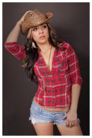 Latina Cowgirl by edsimmsart