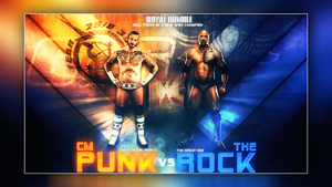Wwe Cm punk vs The Rock Royal Rumble 2013 by Llliiipppsssyyy