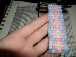 First Attempt at Bead Loom by kayanah