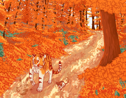 Autumn Path by PandahDESU