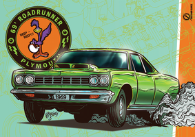 Plymouth Road Runner 1969 by christiano-bill