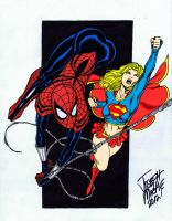 Spidergirl y Supergirl by RBWP-BRPW