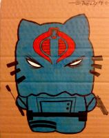 Cobra Commander kitty by TomKellyART