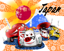 cars in Japan by Green-Kco
