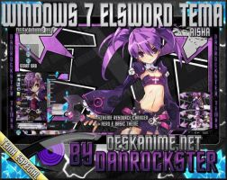 Aisha Elsword Windows 7 Theme by Danrockster