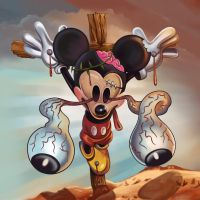 Crucified Mickey by firehazzard-designs