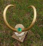 Large gemmed Lady loki horns by InKibus