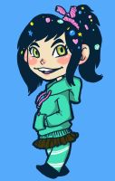 Vanellope Sketch by damsel-in-distrust