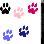 Heart Shaped Paw Prints (Vector avail. as Premium) by DamselStock