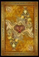 Queen of Hearts Card by blue-fusion