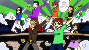Scott Pilgrim Colored in Panel by SuperNinjaAlex