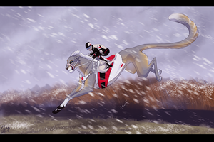 Snowy Steeplechase by InstantCoyote