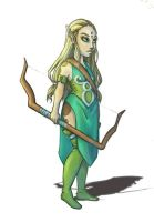 Charactere design Elfe by Kami-Illustration