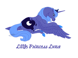Realistic Little Princess Luna by VanyCat