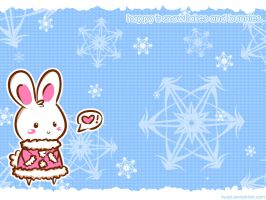 of bunnies and snowflakes by kyupi