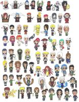 Characters from Naruto in Chibi by Samira-Smile
